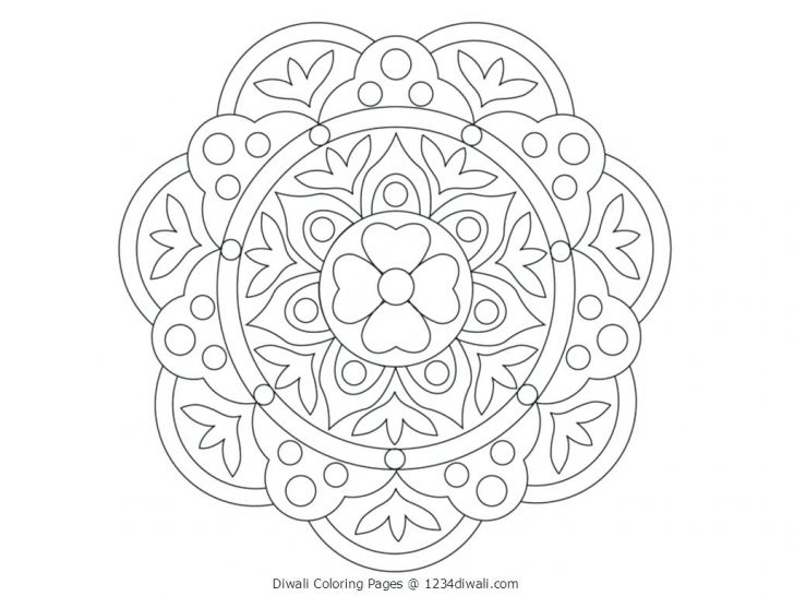 728x546 Coloring Pages Christmas Page For Kids Light Festival Diwali Size