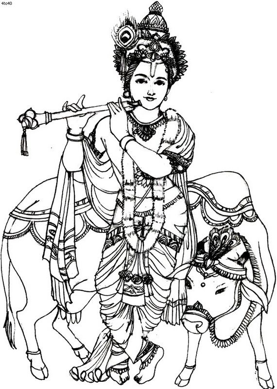 570x800 Janmashtami Festival Coloring Pages