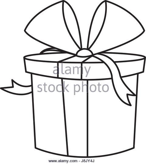 480x540 Gift Box Birthday Celebration Outline Stock Photos Amp Gift Box