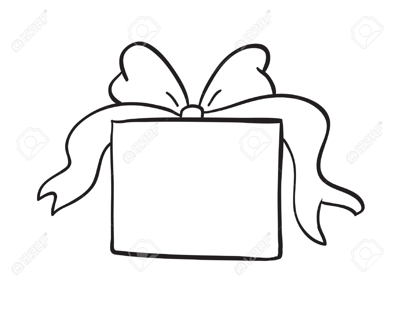 1300x1018 Gift Box Clipart Black And White