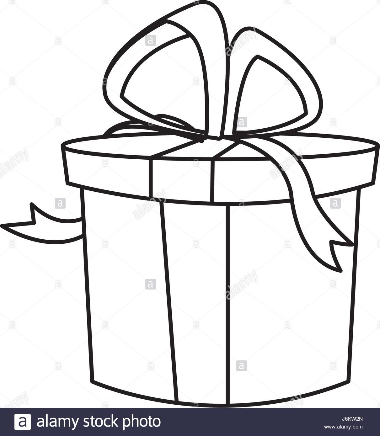 Christmas Gift Box Drawing At GetDrawings