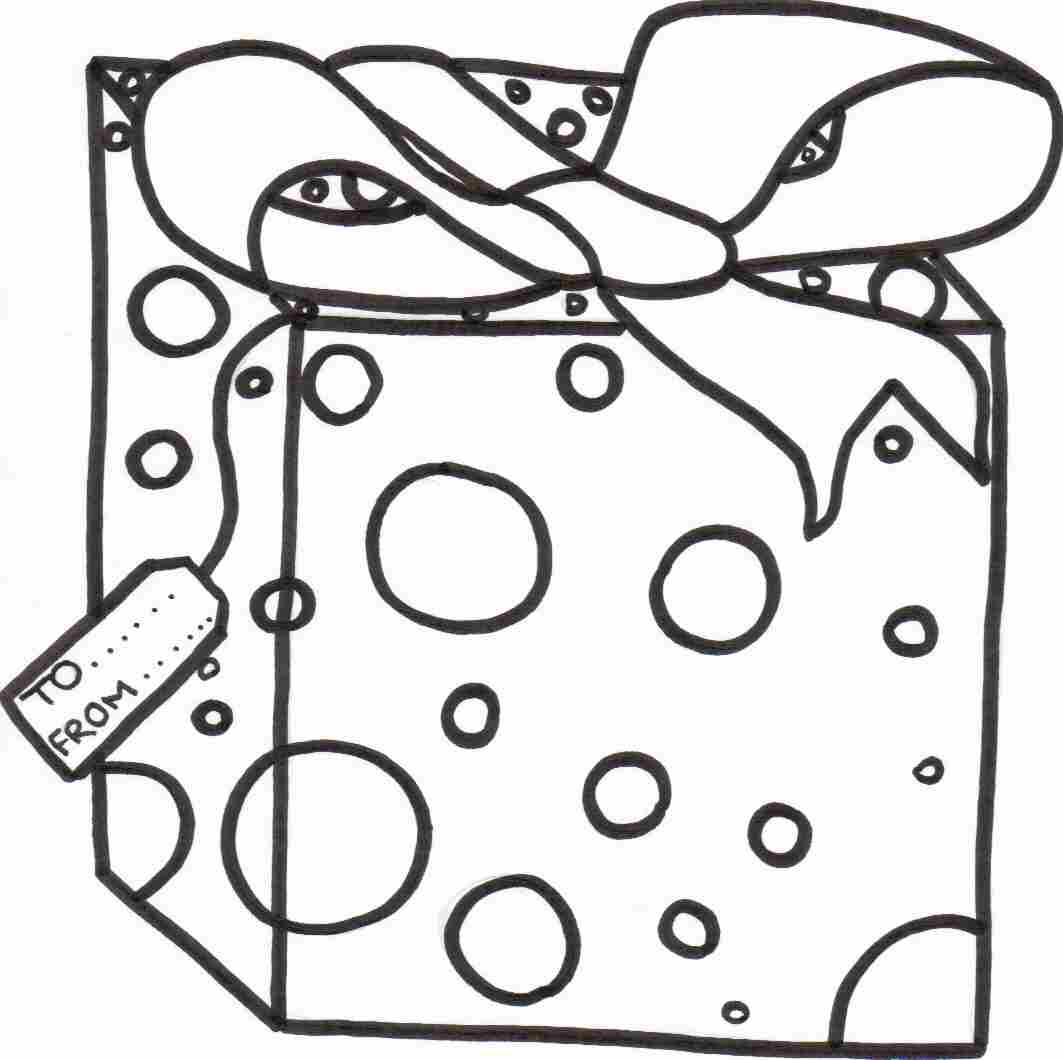 1063x1060 christmas gift box coloring page