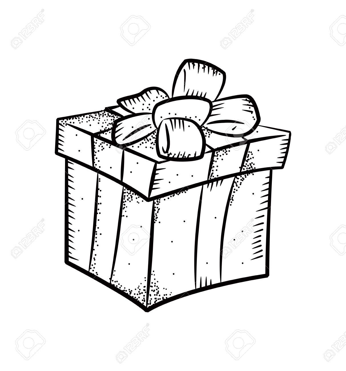 1213x1300 Christmas Gift Drawing Drawings