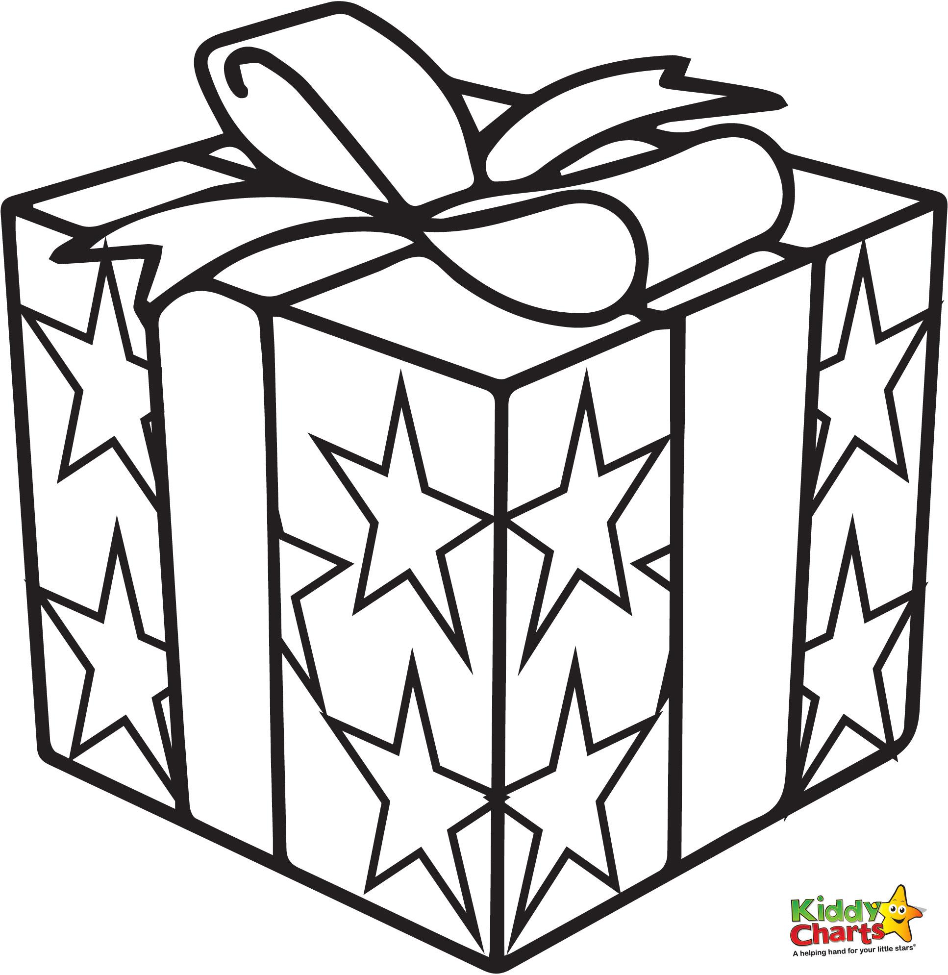 1934x1989 Christmas Gift Box Drawing