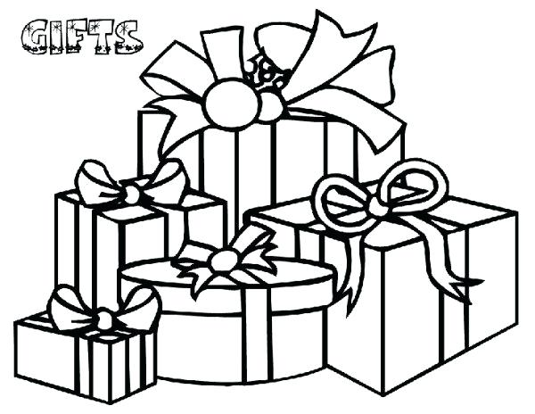 600x464 Christmas Gift Coloring Page Gifts