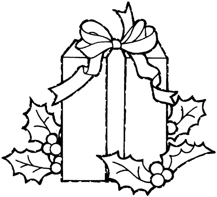 720x656 Christmas Gift Coloring Page