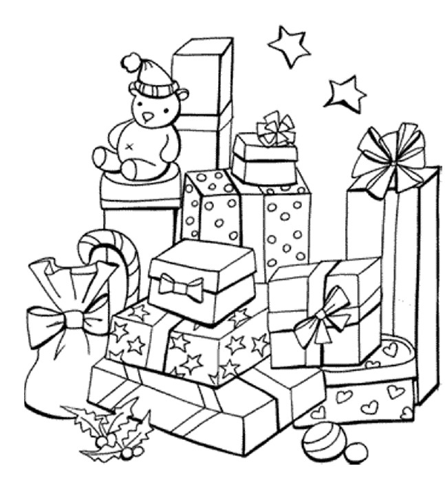 647x694 Christmas Presents Colouring In For Kids Families Magazine