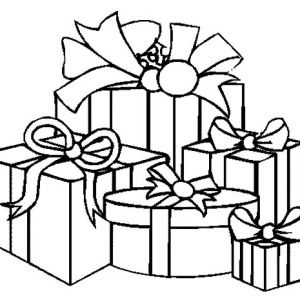 300x300 Christmas Presents How To Draw Coloring Pages