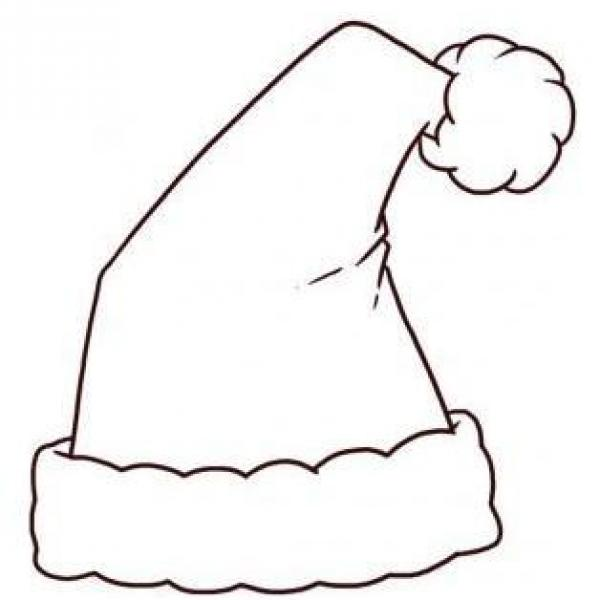 600x600 How To Draw A Santa Claus Hat To Colour