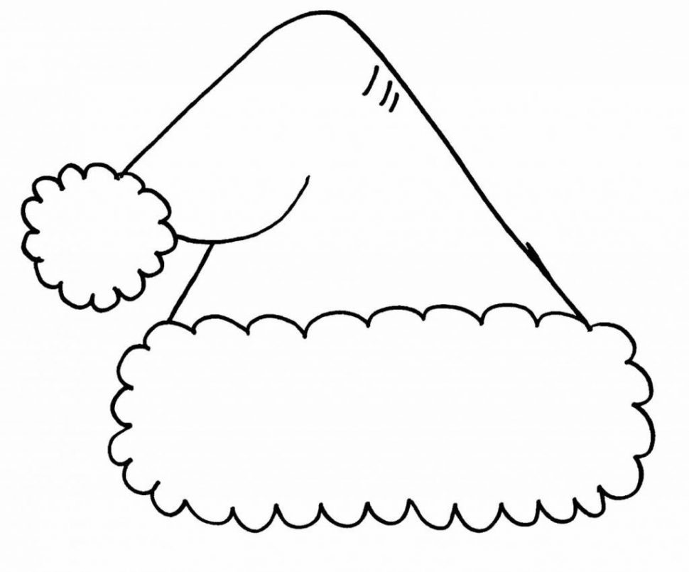 970x805 Coloring Pages Santa Hat Coloring Pages Santa Hat Coloring Pages