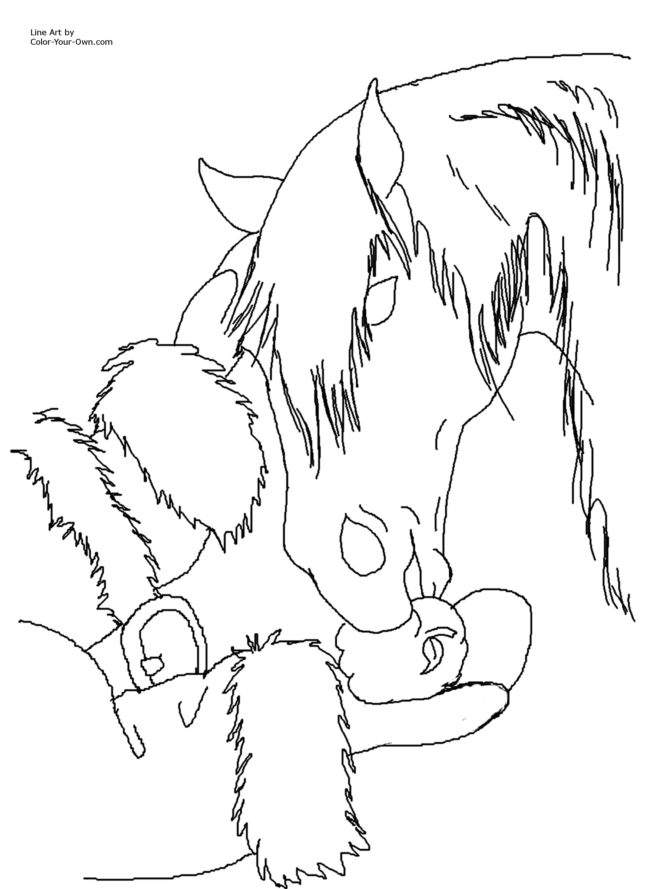 2188x3000 Christmas Horse Coloring Page