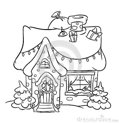 400x414 Christmas Snow House Christmas