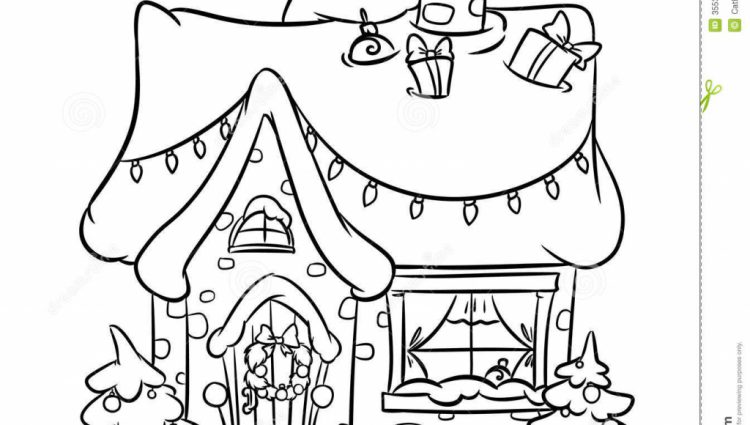 750x425 Christmas Snow House Painting And Drawing Best