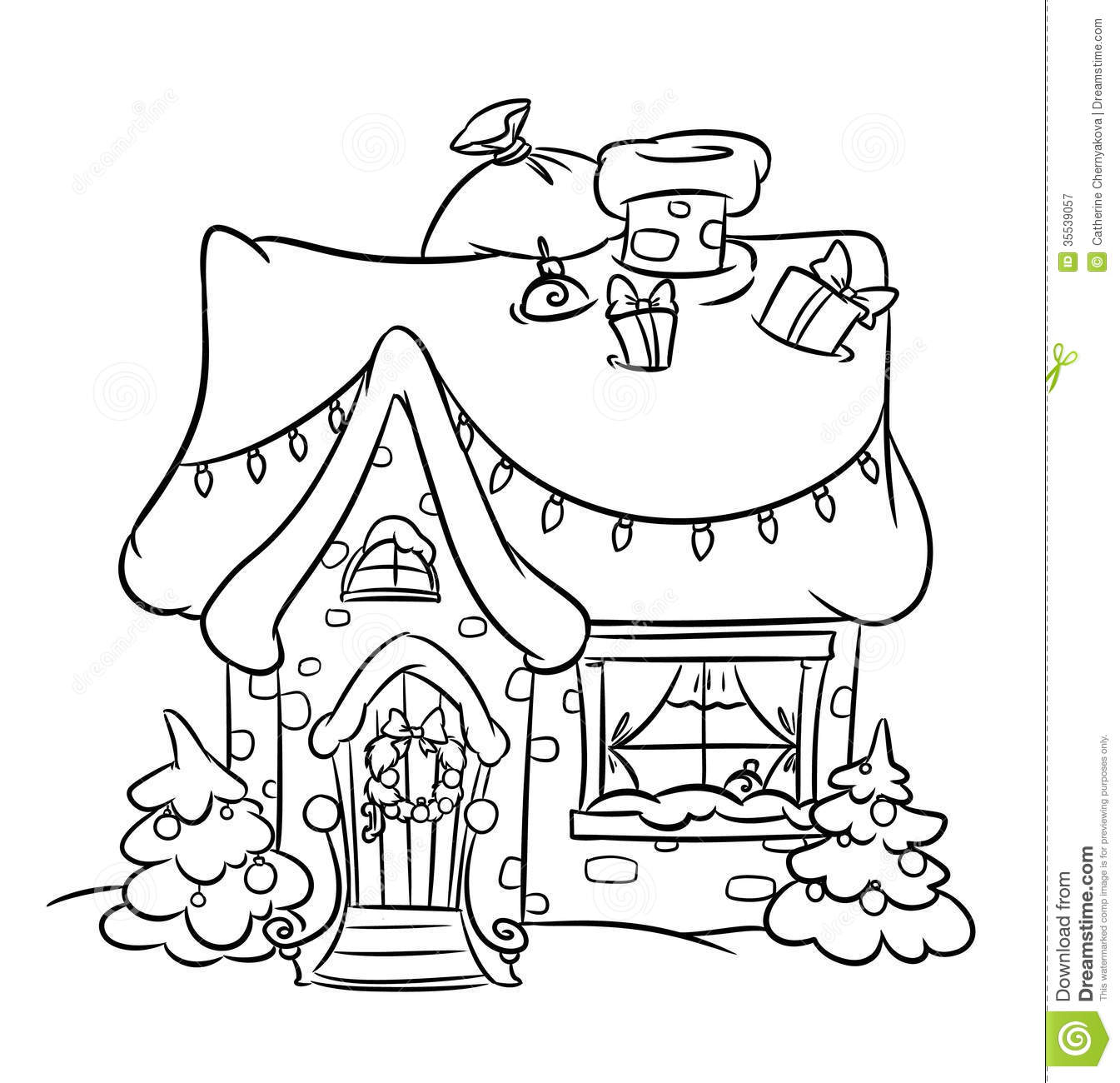 1024x774 Printable Christmas Gingerbread House Coloring Pages 1345x1300 Snow Painting And Drawing Pinterest