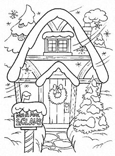 236x319 Christmas Winter Coloring Pages Hatched In Africa Cottage