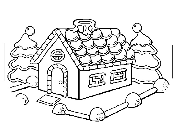564x400 Coloring Pages Attractive Gingerbread House Page