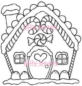 287x300 Gingerbread House Drawings