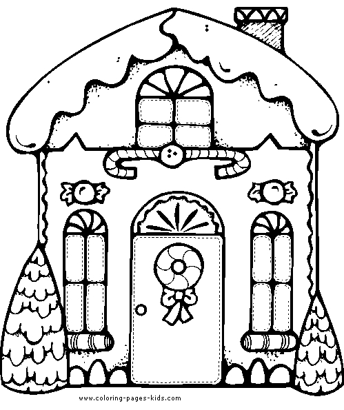 499x595 Christmas House Coloring Pages Collection