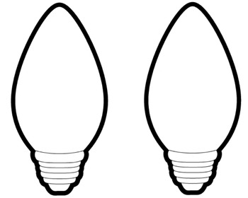 Christmas Light Bulb Drawing