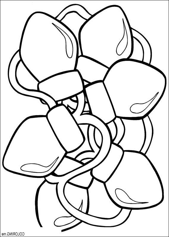 567x794 Bulb Coloring Page