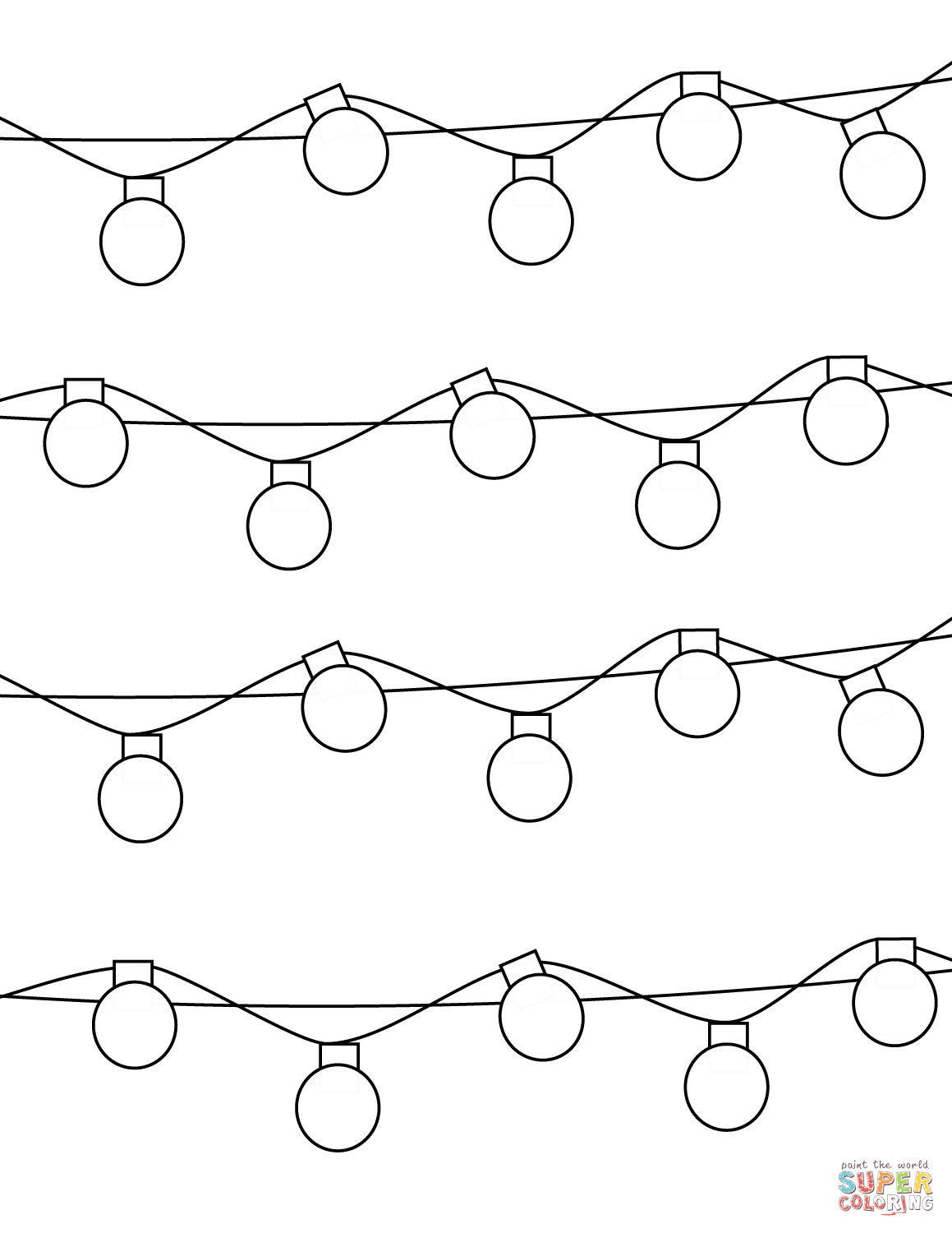 1159x1500 Coloring Pictures Of Christmas Lights Coloring Sheets Of Christmas
