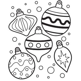 340x340 Christmas Light Bulb Coloring Sheet Coloring