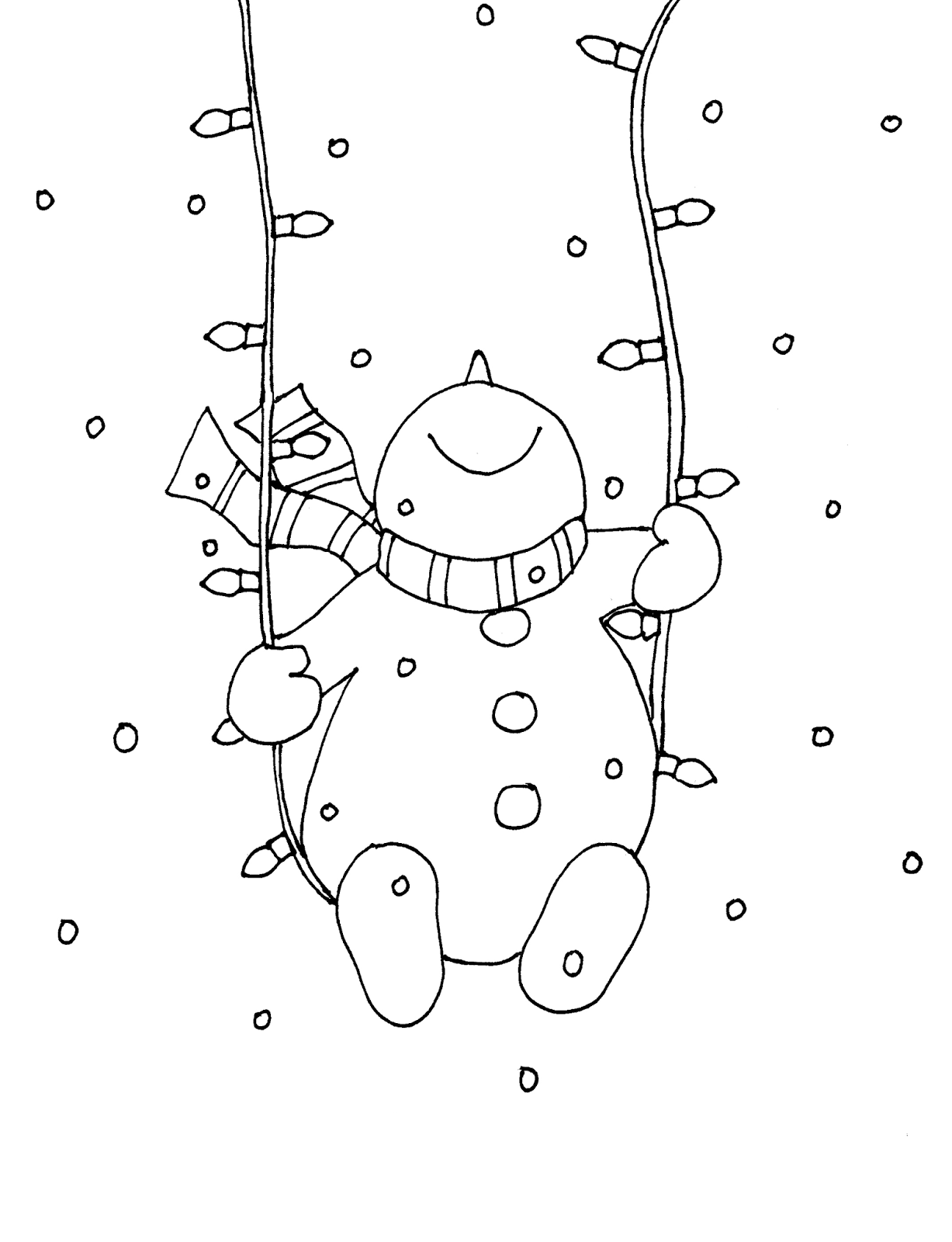 1227x1600 Snowman Christmas Lights Swing (Free Dearie Dolls Digi Stamps