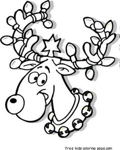 236x296 Christmas Lights Coloring Page Christmas Tree Children'S