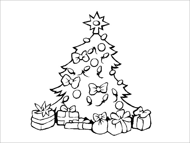 Christmas Line Drawing