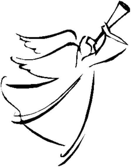 446x566 Angel Line Drawing