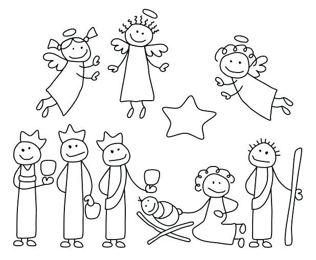 618x509 Manger Scene Coloring Page Nativity Scene Coloring Page Precious