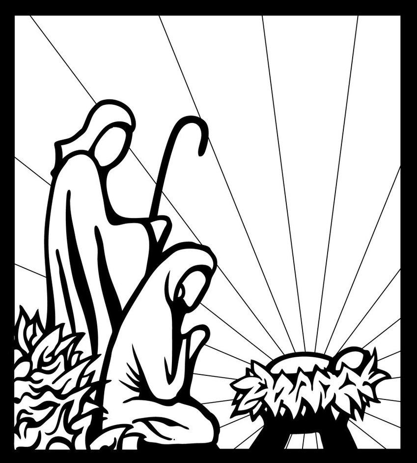 849x941 Black And White Manger Scene Nativity By Inspired Imaging