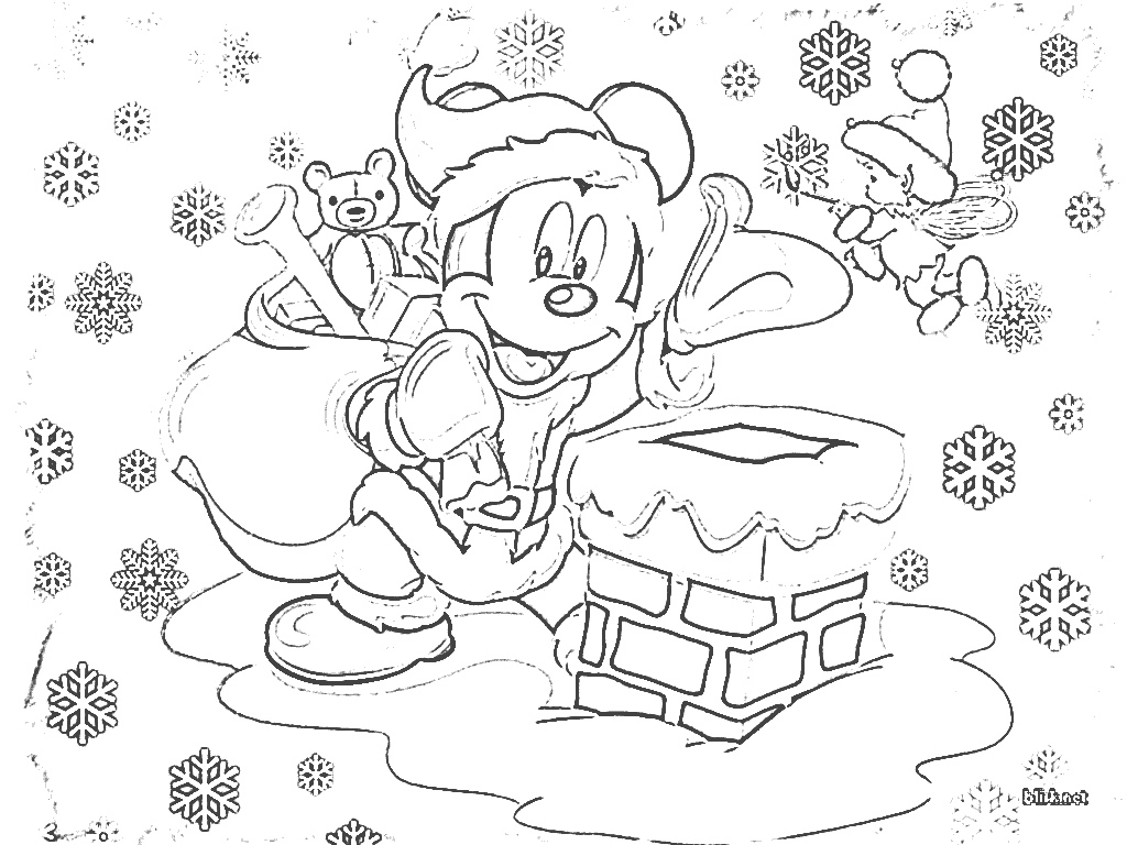 1024x768 Disney Christmas Mickey Mouse Drawing Coloring Disney, Coloring