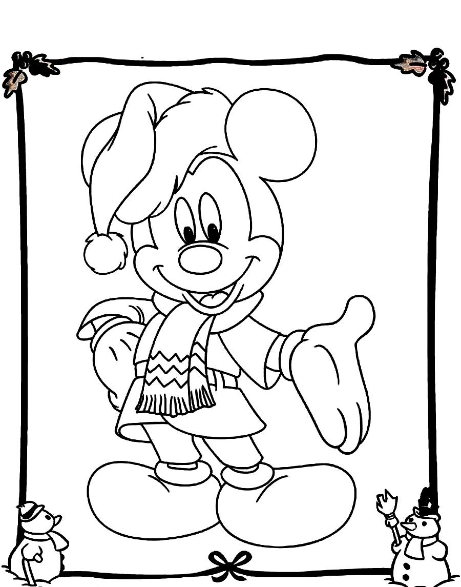 900x1145 Mickey Mouse Christmas Coloring Pages