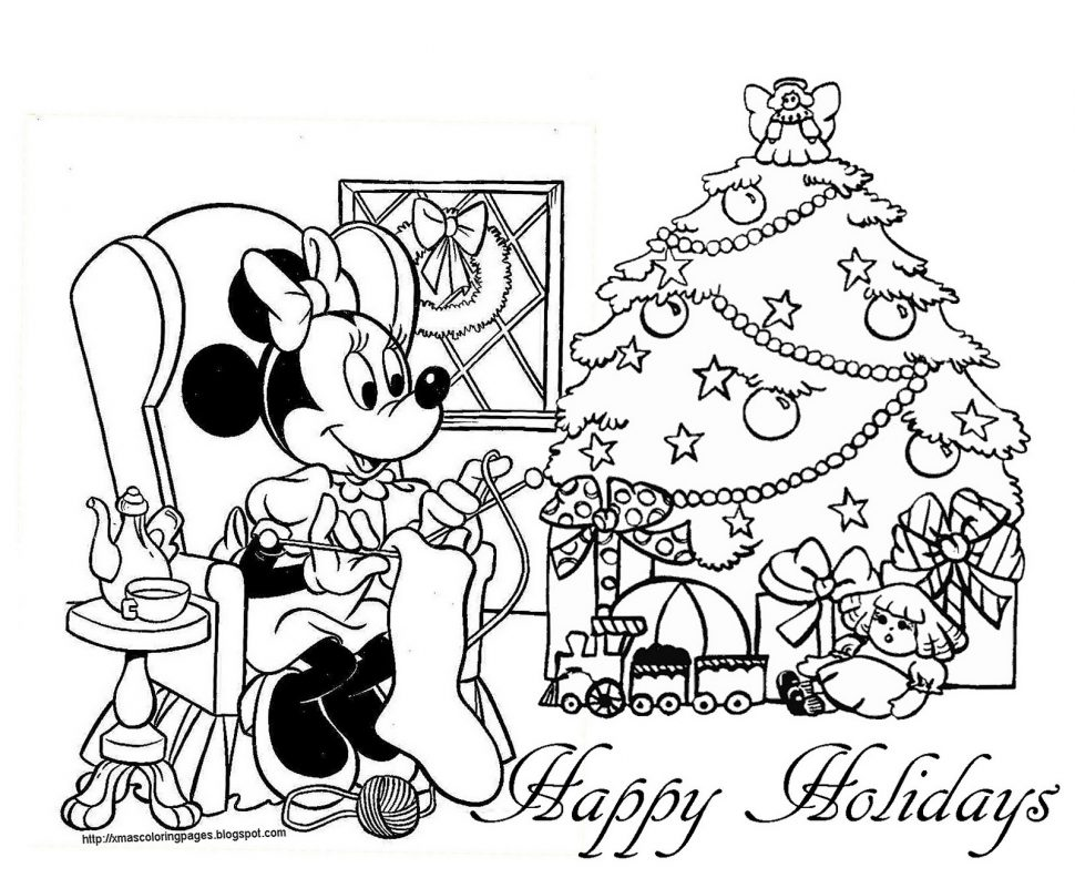 970x792 Coloring Pages Mickey Mouse Christmas Coloring Page Elegant