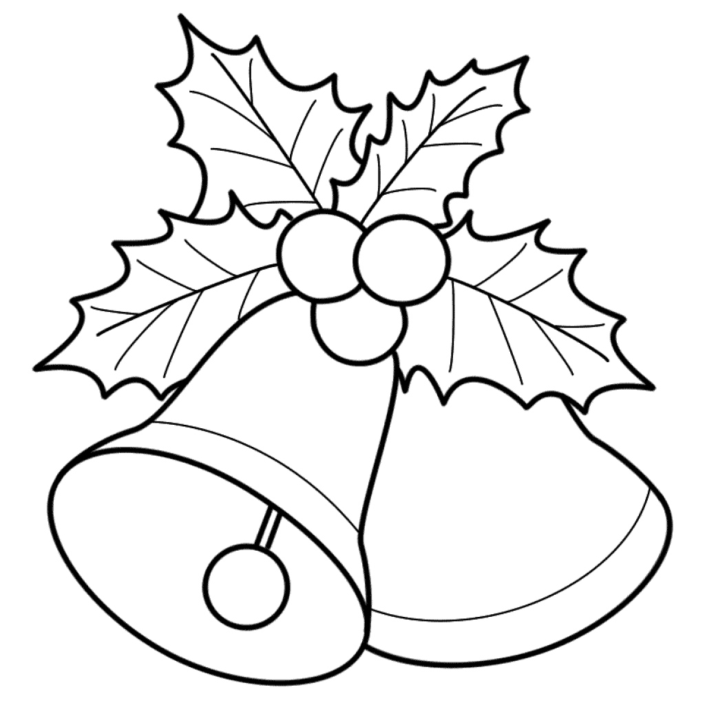 1024x1024 Christmas Coloring Pages Mistletoe