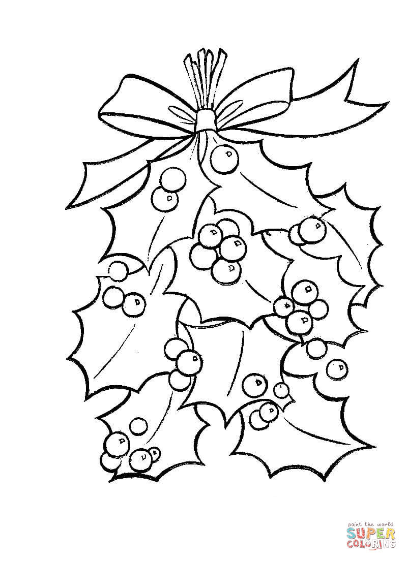 800x1104 Best Mistletoe Coloring Pages 41 For Site With At Theotix Me