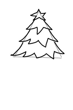 236x354 Christmas Tree Star Outline Image Gallery Cut Outs