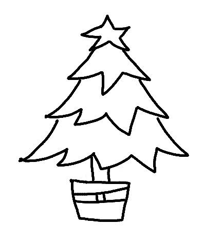 395x480 Christmas Tree Line Drawing Projects Christmas
