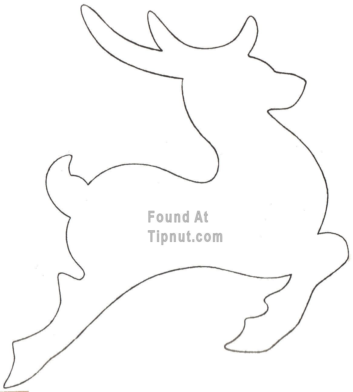 1165x1295 Outlines Of A Reindeer How To Make Cookie Cutters + More