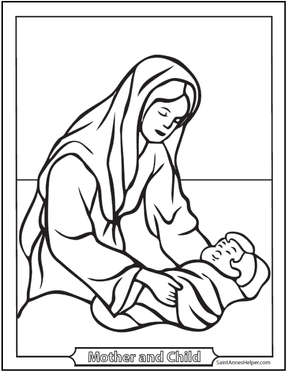 Christmas Nativity Drawing
