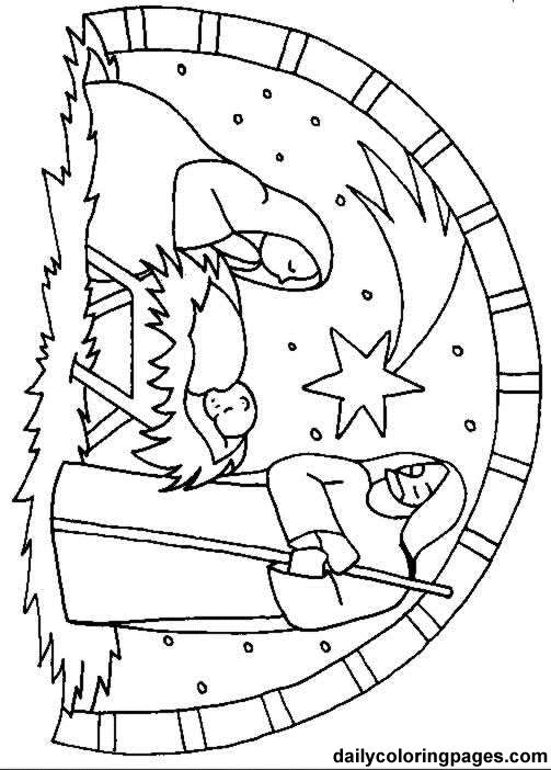 503x702 Daily Coloring Pages Nativity Christmas Tree