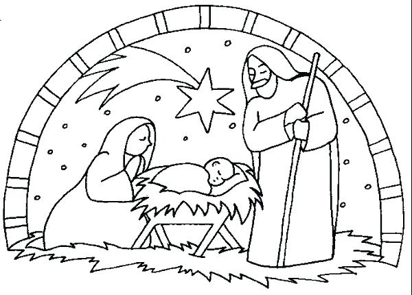 600x430 manger coloring pages to print and nativity coloring pages kids