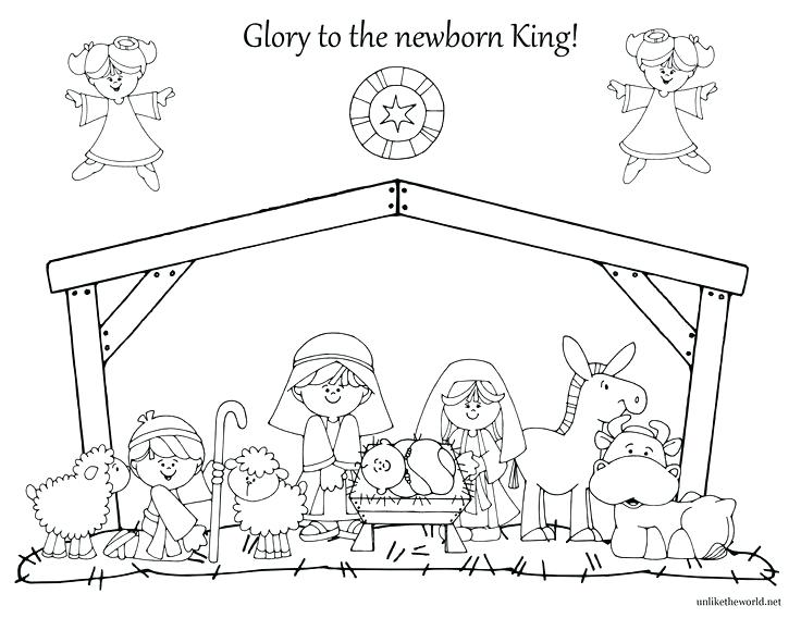 photo regarding Printable Nativity Scenes titled Xmas Nativity Scene Drawing at No cost