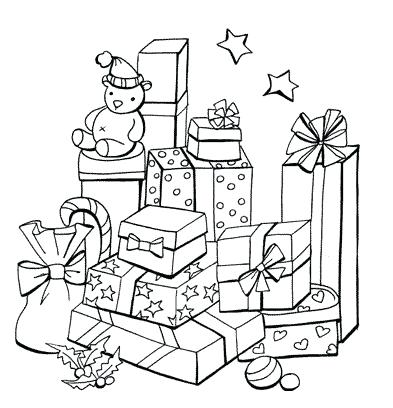 393x408 Christmas Scene Coloring Pages A Decorated Tree Nativity Scene