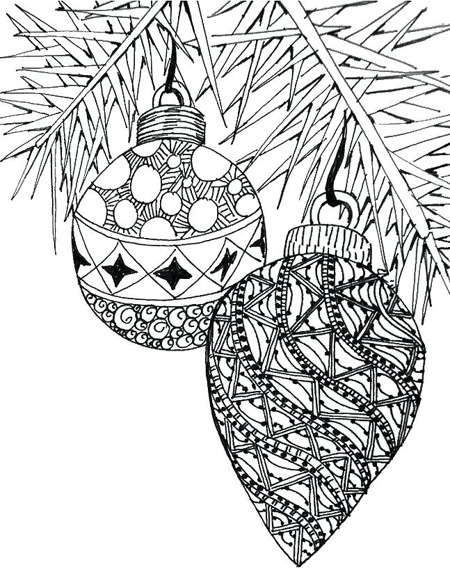 647x825 Christmas Ornaments Coloring Page Ornaments Coloring Pages