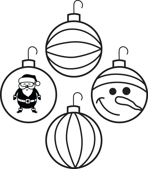 614x700 Christmas Tree Ornaments Coloring Pages Ornaments Colouring Pages