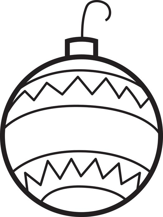 524x700 Christmas Ornament Coloring Page Free Printable