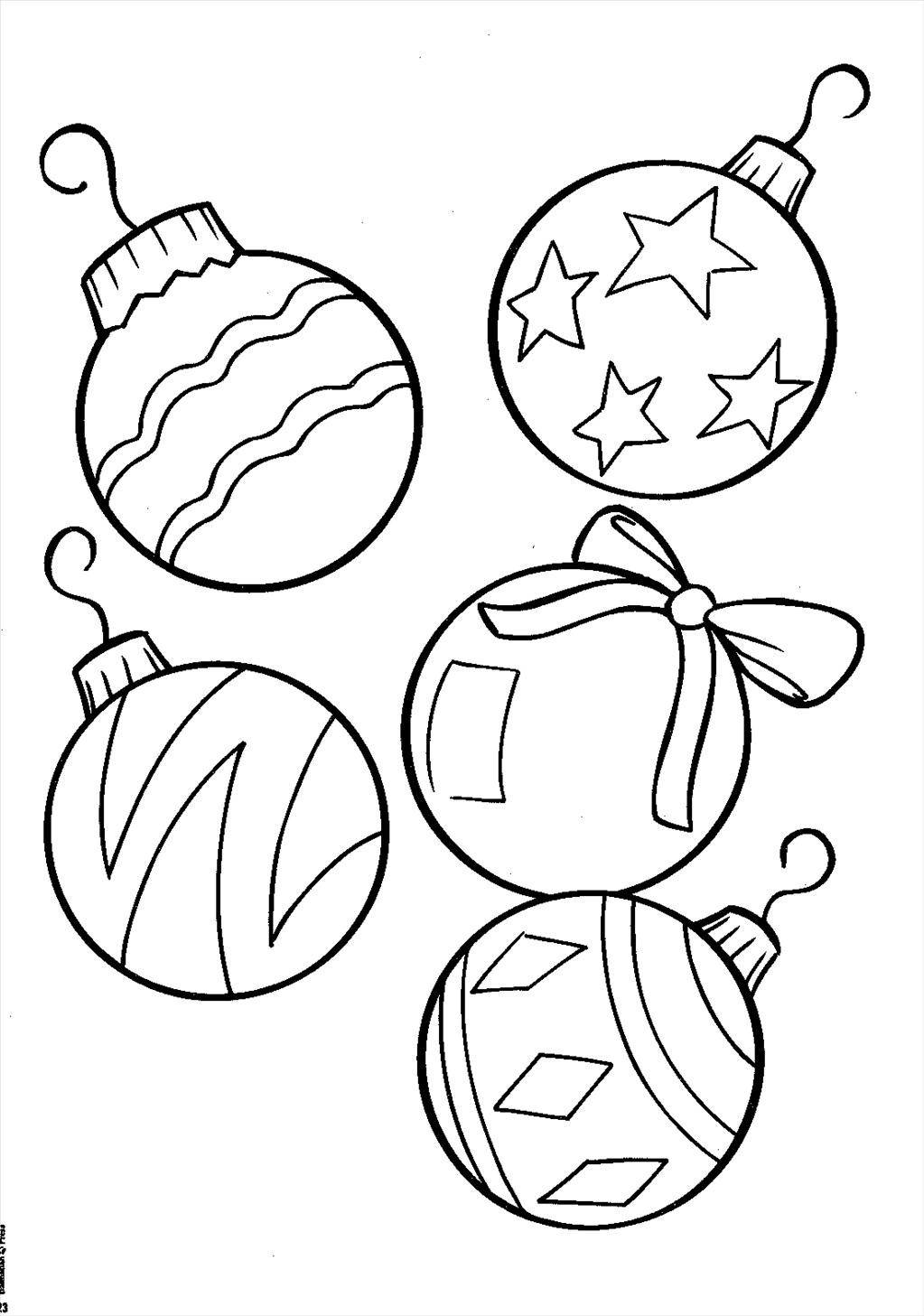 1023x1457 Ideal Christmas Ornament Coloring Pages Graphic Unknown
