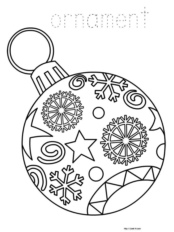 736x981 Printable Christmas Decorations To Colour